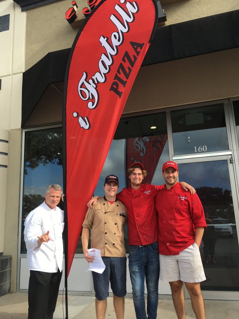 Mike Cole with our i Fratelli North Austin team: Ryan Rinker, Chas Mays, and Garrett DiPasquale