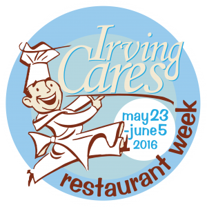 irving cares restaurant week logo